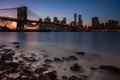 Картинка night, new york city, dusk, cityscape, lee filters, dumbo