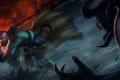 Картинка монстр, бой, воин, монах, diablo 3, нечисть, monk