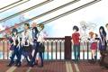 Картинка аниме, прогулка, компания, друзья, школьники