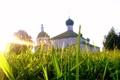 Картинка трава, солнце, Церковь