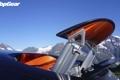 Картинка небо, горы, Bugatti, Veyron, спойлер, бугатти, top gear