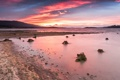 Картинка sky, sunset, lake, hills