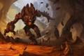 Картинка fury, cave, rocks, running, creature