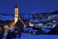 Картинка снег, вечер, колокольня