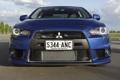 Картинка фары, Mitsubishi, Lancer, blue, передок, лансер, Evolution X