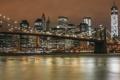 Картинка США, USA, здания, ночь, вид, огни, высотки