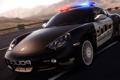 Картинка дорога, авто, полиция, погоня, Porsche, need for speed, hot pursuit