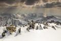 Картинка небо, снег, пейзаж, горы