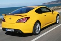 Картинка car, Hyundai, yellow, Coupe, speed, Genesis