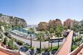 Картинка дорога, пальмы, улица, пристань, яхты, автобус, Монако