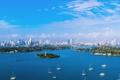 Картинка пляж, океан, здания, яхты, Майами, Флорида, Miami