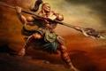 Картинка оружие, воин, татуировка, качок, замах, верзила