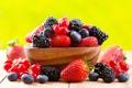 Картинка ягоды, клубника, чашка, fresh, смородина, ежевика, strawberry