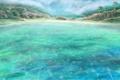 Картинка море, вода, природа, камни, пальмы, скалы, остров