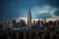 Картинка облака, Нью-Йорк, крыши, Эмпайр-стейт-билдинг, Соединенные Штаты