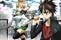 Картинка аниме, highschool of the dead, школа мертвецов, miyamoto rei, komuro takashi