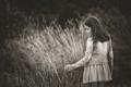 Картинка трава, природа, девочка