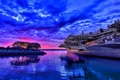 Картинка закат, берег, авианосец