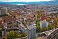 Картинка горы, озеро, дома, Швейцария, панорама, Цюрих