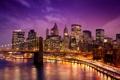 Картинка USA, выдержка, Нью-Йорк, Ист-Ривер, East River, Манхэттен, New York City