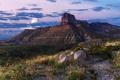 Картинка закат, пейзаж, горы, природа