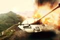 Картинка огонь, СССР, танк, танки, World of Tanks, взрыв, ИС-3