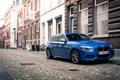 Картинка город, улица, бмв, BMW, blue, M135i