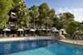 Картинка вода, город, пальмы, фото, бассейн, курорт, Испания