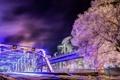 Картинка ночь, Calgary, Langevin Bridge