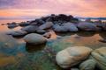 Картинка небо, закат, природа, камни, Калифорния, США, Невада