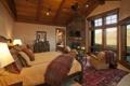 Картинка дизайн, комната, кровать, интерьер, подушки, окно, потолок