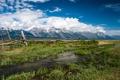 Картинка природа, горы, Grand Teton National Park, ручей