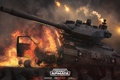 Картинка огонь, разрушение, танк, tanks, CryEngine, mail.ru, Armored Warfare