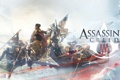 Картинка люди, лодка, ассасин, assassins creed 3, коннор