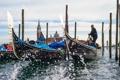 Картинка небо, радость, брызги, город, лодка, Италия, Венеция