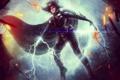 Картинка фантастика, kyla, герой, девушка, DC Universe Online, супергерой, плащ