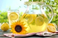 Картинка лето, подсолнух, напиток, fresh, лимоны, лимонад, lemons