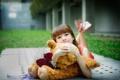 Картинка мишка, настроение, девочка