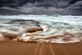 Картинка море, волны, берег