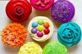 Картинка cupcakes, кексы, сладкое, colorful, dessert, десерт, выпечка