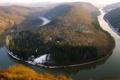 Картинка река, метлах, изгиб, саар, германия, снег, европа