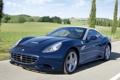 Картинка дорога, синий, скорость, феррари, Ferrari California