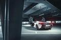 Картинка McLaren, White, Parking, Supercar, Rear, 2015, Doors