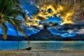 Картинка море, пейзаж, пальмы, фото, гора, Beach, Bora