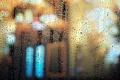 Картинка капли, свет, стекло, макро, боке