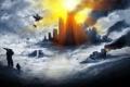 Картинка город, игра, арт, солдаты, battlefield 4