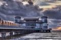 Картинка закат, Weston-Super-Mare Pier in HDR, мост, море