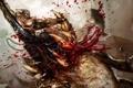 Картинка кишки, кровь, Splatterhouse, монстры