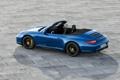 Картинка car, синий, кабриолет, порше, autowalls, Porsche 911 Carrera