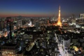 Картинка город, ночь, Токио